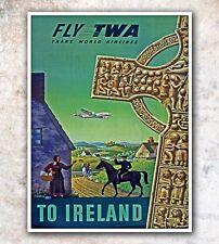 "Ireland Art Travel Poster Irish Wall Decor Print 12x16"" A50"