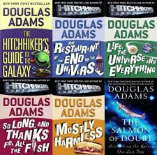 Hitchhiker's Guide to the Galaxy Series by Douglas Adams Paperback Book Set 1-6