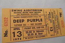 DEEP PURPLE 1973 Original__UNUSED__CONCERT TICKET__Who Do We Think We Are Tour