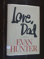 """""""Love Dad"""" A Novel by Evan Hunter, 1981, Signed, 1st Edition"""