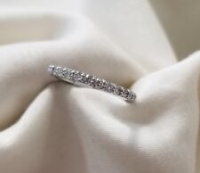14k white gold eternity band.87.5ct tw  size 5.5