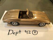 RARE 1963 Chevrolet Chevy CORVETTE Convertible Scale Dreams PROMO MODEL GOLD