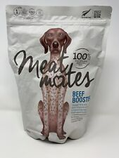 Meat Mates Beef Booster, Grain-Free Freeze Dried Dog Food Topper 14 oz BB 10/20