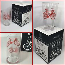 Greenline Goods - Bicycle Beer or Sweet Tea Glass 16 Oz Drinkware RED GLASS