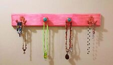 """Handmade Coat/Misc Wood Wall Rack  - Melon Color """"Weathered"""" (Great for Child)"""