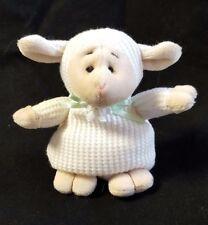 "Ganz Plush Easter Lamb Bean Bag Waffles Off White Tan Mini 4"""