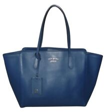 GUCCI BLU Swing in Pelle Shopping Tote Bag Grande