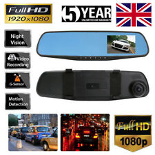 Car DVR 4.3'' HD 1080P Dual Lens Auto Mirror Dash Cam Recorder Rearview Camera