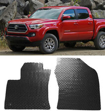 2 Pcs All Weather Rubber Heavy Duty Floor Mats Front For 16-17 Toyota Tacoma