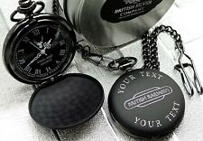 British Rail Engraved POCKET WATCH Railway Train Model Fans Luxury Gifts Sign