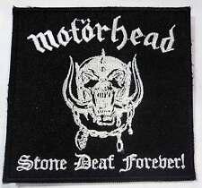 MOTORHEAD stone deaf foreve patch Lemmy Kilmister Hawkwind Saxon DIO Iron Maiden