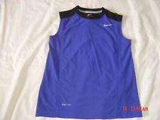 Mens Size Small Nike Dri-Fit Sleeveless ActiveWear Shirt Blue/Black Trim