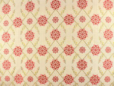 Drapery Upholstery Fabric Traditional Tissue Pick Starburst  Floral -  Raspberry