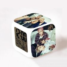 KPOP BTS Alarm Color Changing Clock Bangtan Boys YOU JIMIN  Night Light Gift