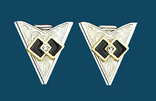 NEW! Western Collar Tips - Silver Square Dance - Screw
