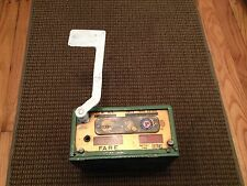 VINTAGE ANTIQUE OHMER ROCKWELL TAXI CAB CAR FARE METER FLAG WIND UP DASHBOARD