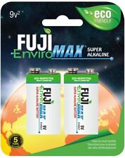 2 pack Fuji EnviroMAX Super Alkaline 9 Volt (9V) Eco Friendly Batteries