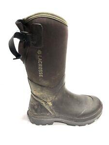 """Lacrosse, Men's 14"""" Alpha Range Brown/Black Boots, Size 8M"""