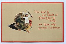 Old embossed postcard How dear to our hearts at Thanksgiving time, are.. , 1914