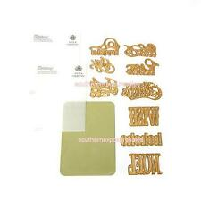 Anna Griffin Cuttlebug Festive Words Cutting Dies and Emboss Folders New/Sealed