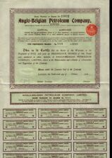 UK / GB / BELGIUM Anglo-Belgian Petroleum Company London dd1929