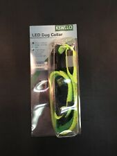 KSWLLO Led Dog Collar Size Medium Fluorescent Green And Orange