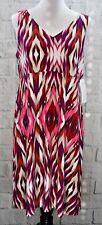 NEW Athleta Printed Santorini Dress Feather Ikat Pink Purple Size XL MSRP $98