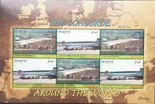 Concorde Around the World Mini-Sheet St Kitts 2007 MNH