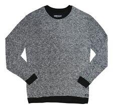 bd6b13f14c Kenneth Cole Reaction Mens Marled Long Sleeves Sleep Shirt Black L