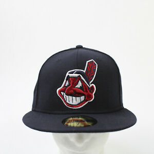 Cleveland Indians New Era Fitted Hat Unisex Navy/Gray New with Tags