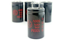 Amp part, JJ 100M Electrolytic Capacitor 100uF 500V - condensateur X1