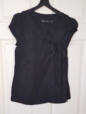 CUE Black Fitted Top Size 8