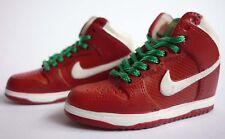 Mini Kicks 1/6 Dunk High Premium SB Supreme Red w/ Green Laces - SOA-02-47