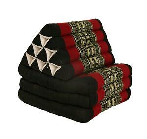 Thai Three Fold Triangular Cushion - Black Elephant(DM13)