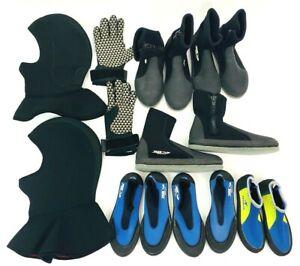 Mixed lot Scuba gear diving shoes gloves hoods Neoprene - Wenoka MDAGUAM gear