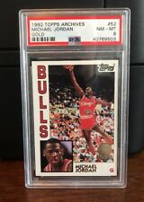 1992 Topps Archives Gold Michael Jordan Bulls Basketball Card #52 PSA 8 NM-MT