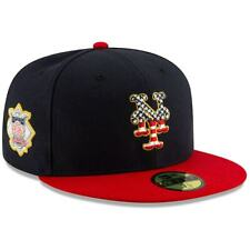 """New YORK METS MLB New Era 59FIFTY STAR & STRIPES Baseball Hat Fitted 7 5/8"""""""