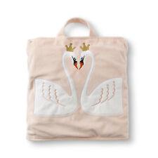 Joe Boxer Girls' Fold-Up Blanket Bag - Swans