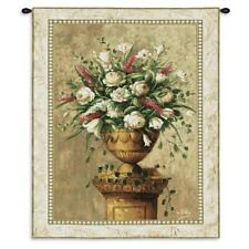 53x38 SPRING EXPRESSION Pink White Floral Tapestry Wall Hanging