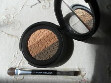 Laura Geller Baked Eyeshadow Trio, Mirror In Lid, IMPRESSIONS with brush *NEW*