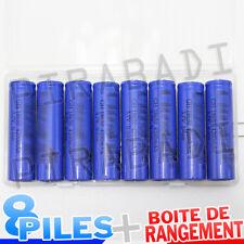 8 PILES ACCUS RECHARGEABLE 18650 3.7V Li-ion BATTERY AKKU + BOITE DE RANGEMENT