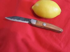 COUTEAU PLIANT AVEC LAME FORGÉE BRUTE PM  FOLDING KNIFE WITH HAMMERED BLADE