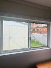 Sliding Glass Window with White Aluminum Frame with Flyscreen