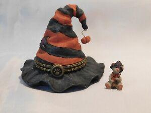 Boyds Bears Treasure Box HILDA'S HAUNTED HAT w/WITCHY MCNIBBLE - 1E - NIB