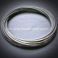 Edler Armreif mit 10 einzelnen 1,5 mm Reifen Silberbeschichtet ca. 6,7 cm Ø