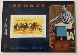 Ron Turcotte 2010 Panini Century Horse Racing Jockey Souvenir Stamps 007/250 10c