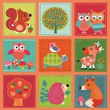 20 SERVIETTEN NAPKINS  WOODLAND LOVELY ANIMALS 33 X 33 CM  COLLAGE TIERE BÄUME