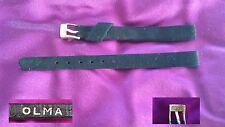 Cinturino OLMA donna 9mm pelle originale anni 1960  vintage Leather band watch