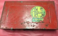 Vintage Erector Set Red Metal Case. Only A