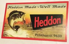 "Heddon Punkinseed 9630 Fishing Lures Fish Bait  Decor Sign8""x14"" Paperboard Cool"